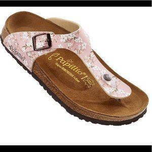 Birkenstock Papillio Gizeh Floral Sandals Sz 37 6